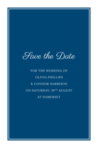 Save The Dates Chic navy blue