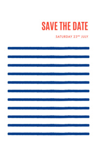 Save The Dates Mariniere navy blue