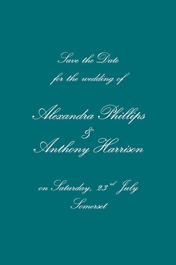 Save The Date Cards Tradition green