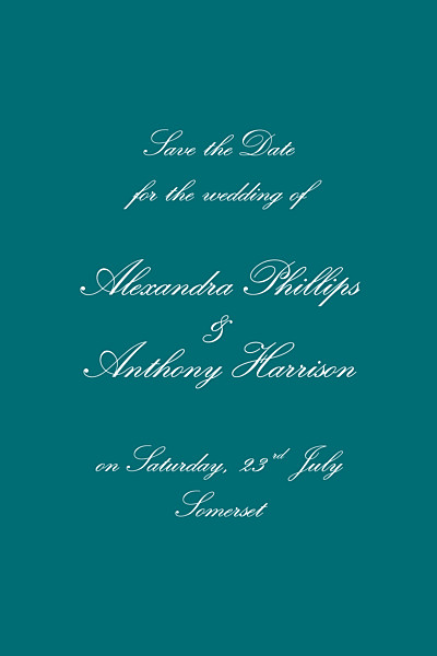 Save The Date Cards Tradition green finition