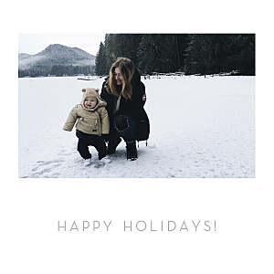 Minimalist white christmas cards