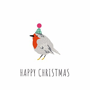 Christmas Cards Little winter sparrow white