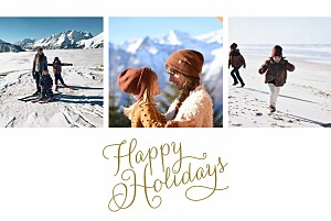 Holiday script (3 photos) white marianne fournigault christmas cards