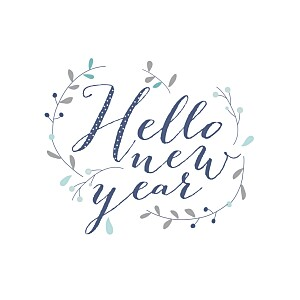 Hello new year blue my lovely thing  christmas cards