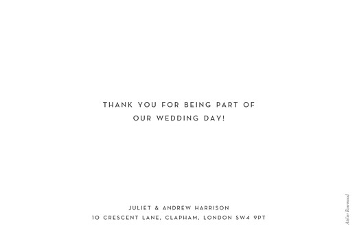 Wedding Thank You Cards Simple photo landscape (foil) white