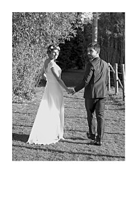 Wedding Thank You Cards Simple photo portrait (foil) white