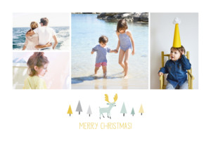 Christmas Cards Festive forest white