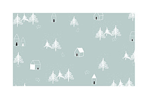Christmas Cards Nordic night blue