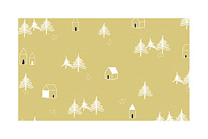 Christmas Cards Nordic night yellow