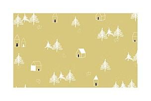 Nordic night yellow yellow christmas cards