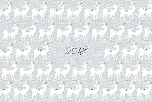 Christmas Cards Reindeer games grey