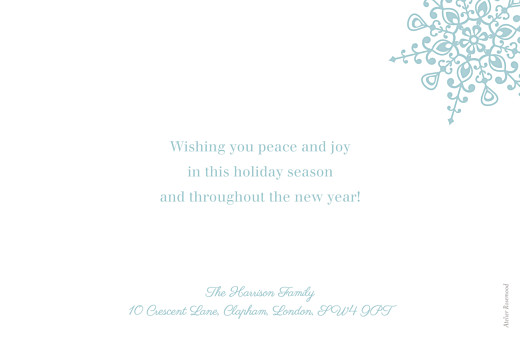 Christmas Cards The first snowflake blue