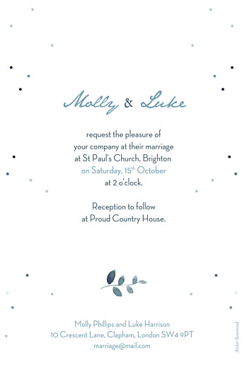 Wedding Invitations Summer night (foil) blue - Page 2