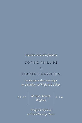 Wedding Invitations Love letters (foil) small blue