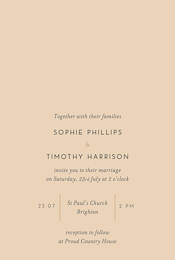 Wedding Invitations Love letters (foil) small pink