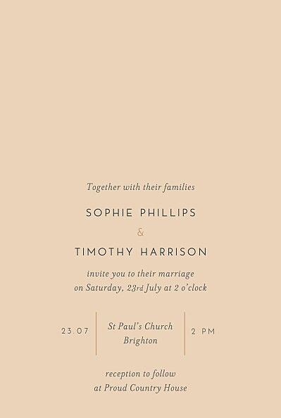 Wedding Invitations Love letters (foil) small pink finition