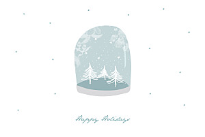 Christmas Cards Snow globe blue