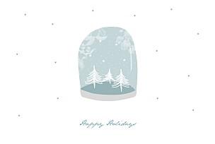 Christmas Cards Snow globe blue
