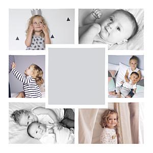 Bowtie (foil) grey multi photo christmas cards