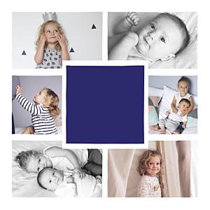 Bowtie (foil) purple blue christmas cards
