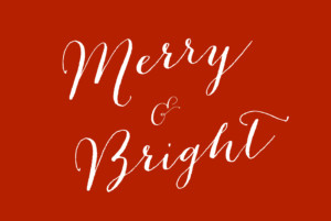 Christmas Cards Merry merry red