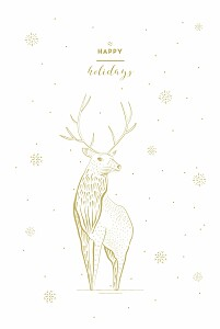 Holiday stag white christmas cards