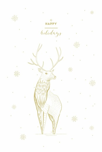 Christmas Cards Holiday stag white - Page 1