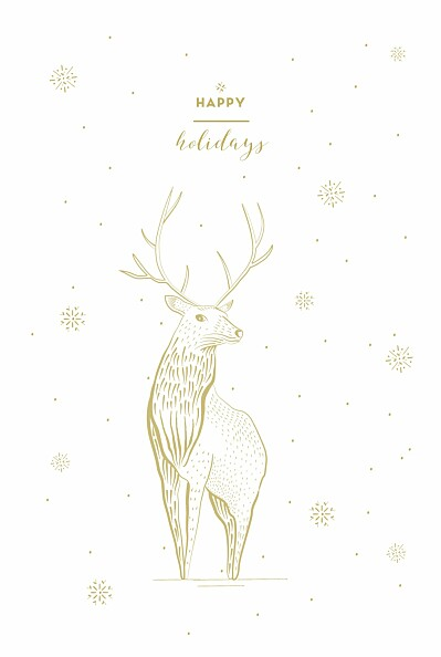 Christmas Cards Holiday stag white finition