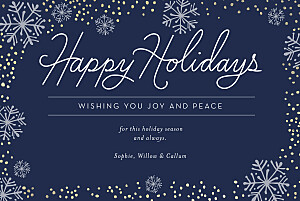 Snowflakes blue christmas cards
