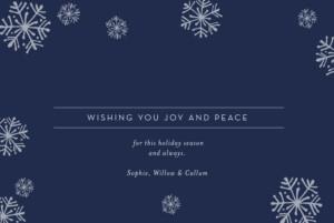 Christmas Cards Snowflakes (foil) blue