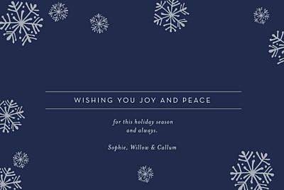 Christmas Cards Snowflakes (foil) blue finition