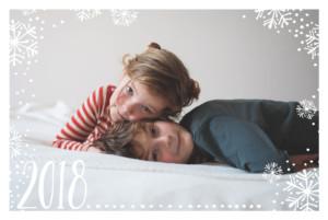 Christmas Cards Flurry white & blue