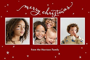 Christmas Cards Lovely stars red
