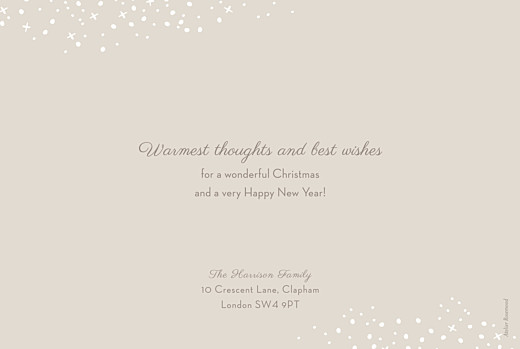 Christmas Cards Snow day (foil) beige