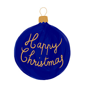 Holiday bauble blue marion bizet christmas cards