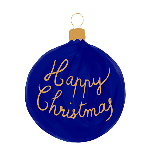 Christmas Cards Holiday bauble blue