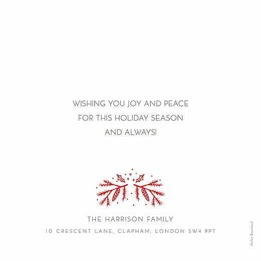 Christmas Cards Happy holly days white