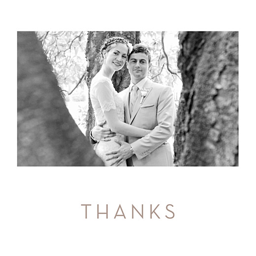 Wedding Thank You Cards Simple photo white