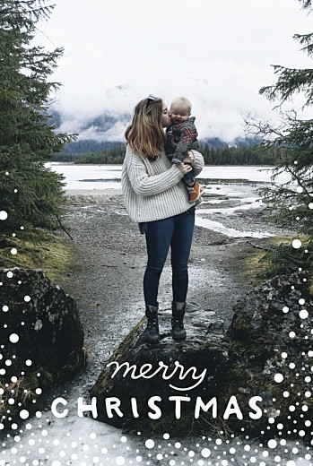 Christmas Cards Holiday flurries blue