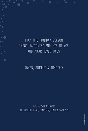 Christmas Cards Holiday flurries (foil) blue