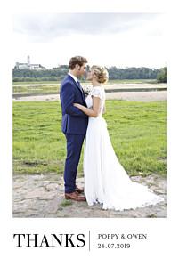 Wedding Thank You Cards Élégant photo white