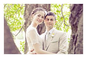 Memory landscape white wedding thank you cards