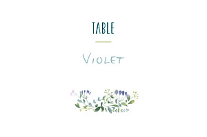 Watercolour meadow pink table numbers