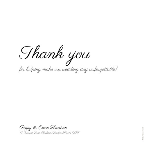 Wedding Thank You Cards Memory white