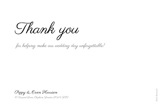 Wedding Thank You Cards Memory landscape white
