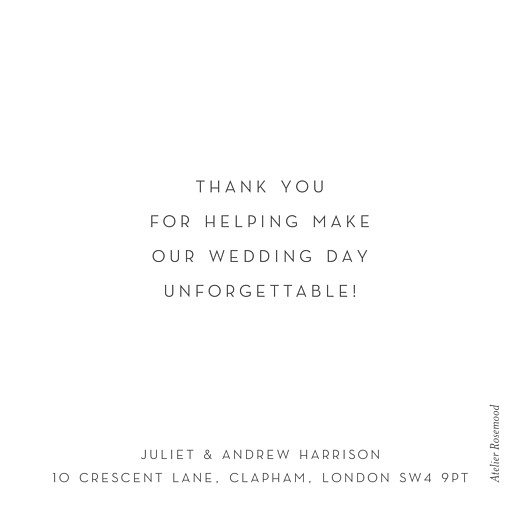 Wedding Thank You Cards Little foil heart white