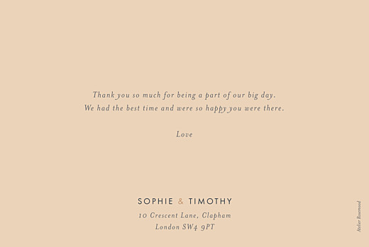 Wedding Thank You Cards Love letters (foil) pink