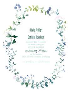 Wedding Invitations Watercolour meadow pink