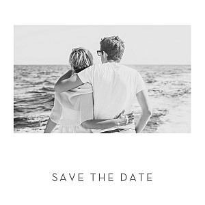 Elegant heart (foil) white save the date cards