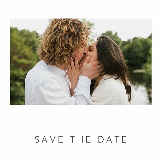 Save The Date Cards Little elegant heart (foil) white